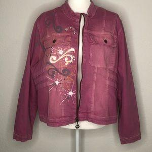 Apple Bottom Vintage Pink Jacket Plus 3X